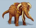 Horn-Scaled Elephant by Luneder
