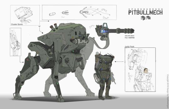 PITBULLMECH ORI by WarrGon