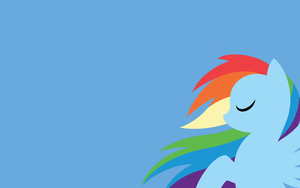 MLP:FIM Rainbow Dash Wallpaper by Moustache147