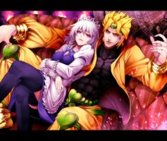 Dio Brando and Sakuya Izayoi by Munton