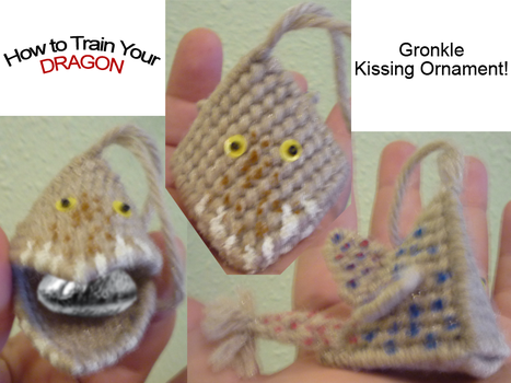 Gronkle Kissing Ornament by BrigetteMora