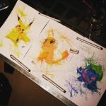 Pokemon watercolour set by Spydi-mel
