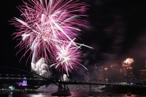 Riverfire over Brisbane by angusfk