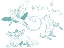 various YCHs auction (closed) by hawberries