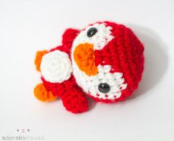 red penguin by tinyowlknits
