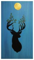 The Stag in Spring by anisia-gypsy