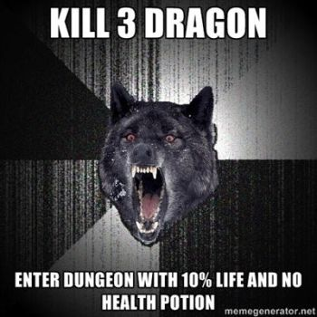 Kill 3 Dragon Enter Dungeon by Gladiatuss