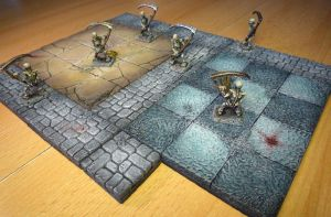 Hero Quest Skeleton Painted Miniatures Hirts Art by crwrene