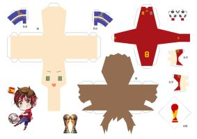 FIFA 2010 Spain Papercraft by arcelian