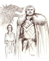 Robb Stark, King of the North by guinnessyde