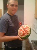 first watermelon carving by djsarge1129