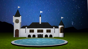 Palace in the night by animaniatic