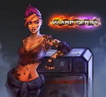 Warp Derby | Jill Promo Art by RyomaNinja