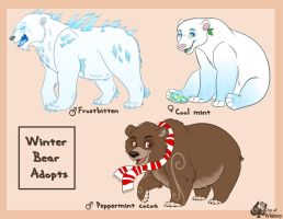 Original Winter Bear character Auction by Miss-Melis
