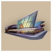 Building Illustration: Taubman Museum by plaidklaus