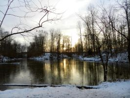 Winter Soltice at the Photo Pond by mrcbax