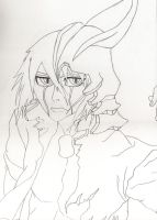 Ulquiorra Request WIP - Lineart Complete by TAyukii