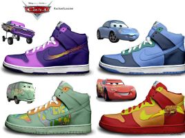 Cars Nike Customs by RachaelLoraine