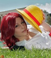 Fem! Shanks cosplay, One Piece by Mellorineeee