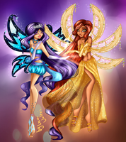 commission Celeste And Cleopatra Enchantix by LeaValeri