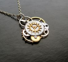 Clockwork Pendant 'Supernova' by AMechanicalMind