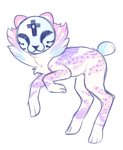 pastel cheetah by sablepuss