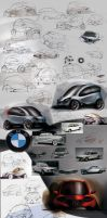 BMW Concept sketches by candyrod