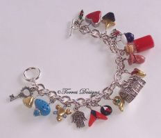 Handmade Custom Ocarina of Time Charm Bracelet by TorresDesigns