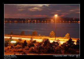 Back Cove and I-295 at Dusk, 2 by PhotographyByIsh