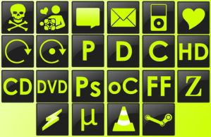 Grn Dock Icons by scarymuffin