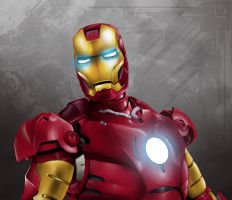Iron man Digital painting by di-londra