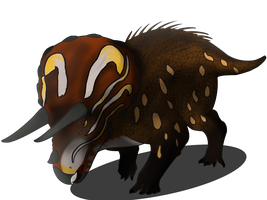 My Little Dinosaurs: Triceratops by lightningchaserart