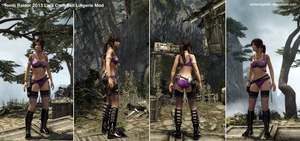 Tomb Raider 2013 Lara Croft Full Lingerie Mod by SliderDigitalFX