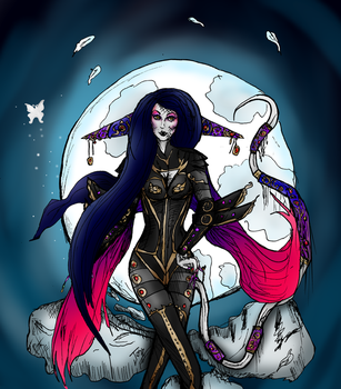 Leil as an Umbra Witch -Digitally Coloured- by IoannisCleary