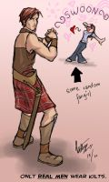 That is SO totally a kilt. by frostcrystal
