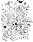 Lineart:Mind Explosion by SpectralFairy