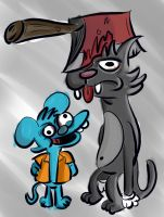Itchy and Scratchy by AlejoManila