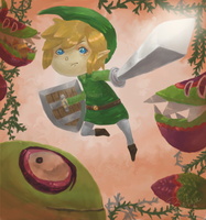 Wind Waker: HIYAH by batwa