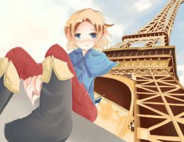 Under the Eiffel Tower by MizutheMage