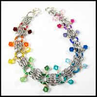 Crystal Maille Bracelet by redpandachainmail