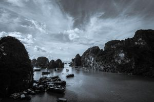 View Over Halong Bay by stinebamse