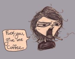 Gerard needs his coffee by SaintPancake