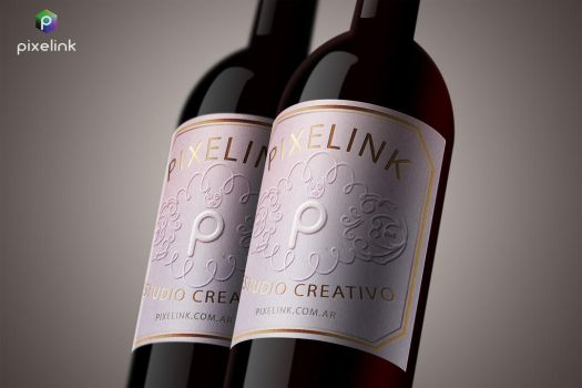 Wine label Pixelink by sebartex