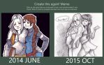 BeforeAfter meme - 1 year by Naeviss