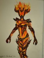 Flame Attronach Colored Pencil drawing by AmbitiousArtisan