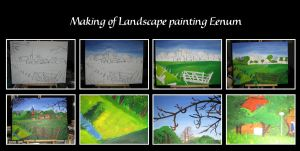 Making of Landscape Eenum by LadyRafira