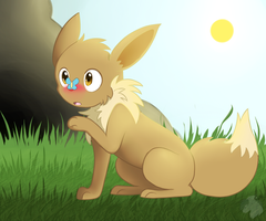 Timid Eevee by Darkaiya
