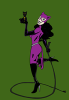 Catwoman posing by JoffOliver