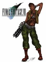 Final Fantasy VII: Barrette Wallace by Zchanning