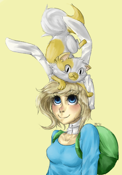 Fionna and Cake by Jesscookie